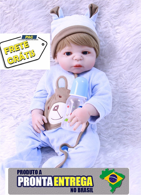 bebe reborn menino silicone azul