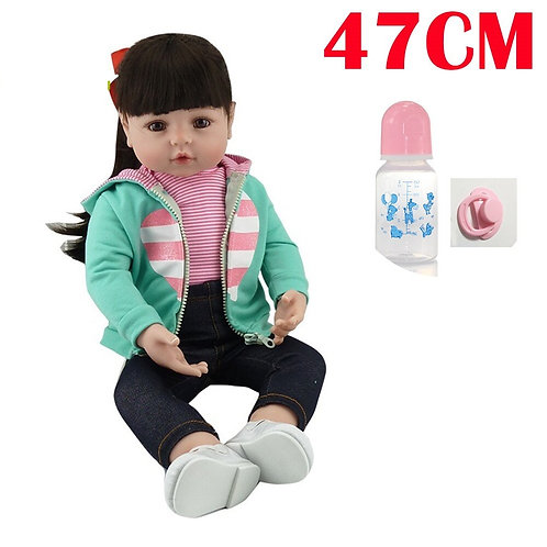 Boneca reborn estilo menina