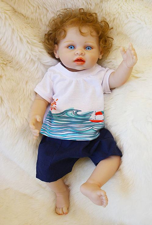 bebe reborn menino barato 43 cm pode molhar