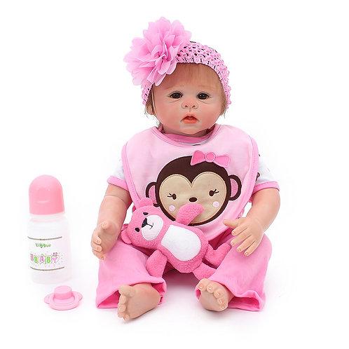 Bebe de silicone 48 cm Menina Reborn