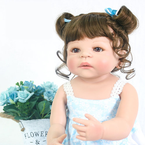 Bebê Reborn Corpo Silicone Morena Cacheado