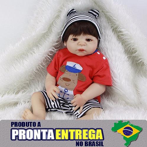 Boneca Reborn TODA EM VINIL SILICONADO menino PRONTA ENTREGA
