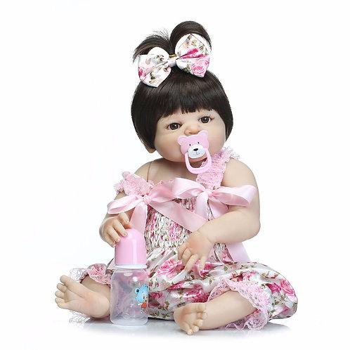 Boneca Bebê Reborn Menina Silicone Realista