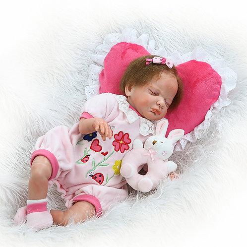 bebe real reborn dormindo com chocalho