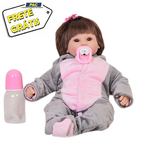 Bebê Reborn Laura Baby Elefantinho