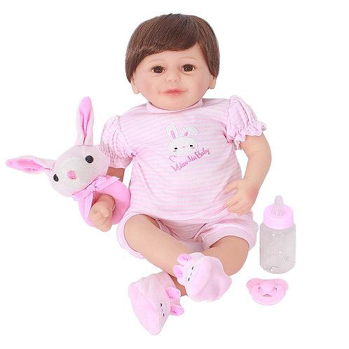 Bebe Reborn menina Bebe silicone adorável