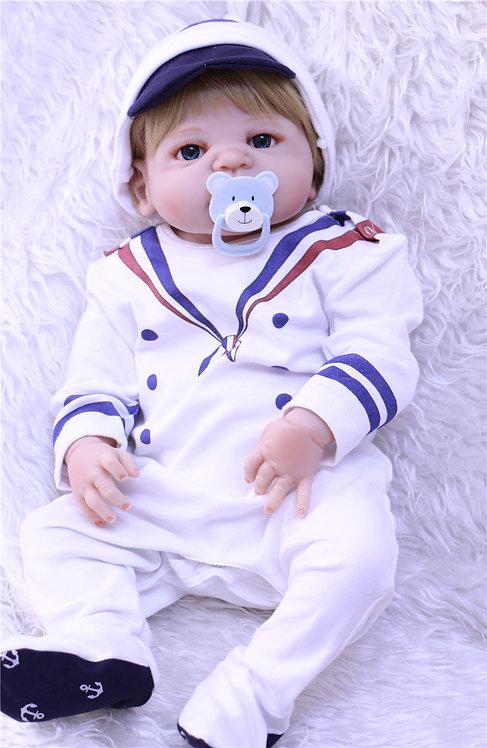 bebe reborn menino loiro marinheiro