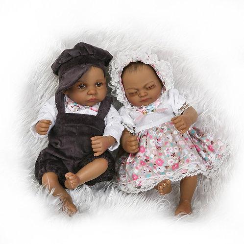 bebe reborn gêmeos moreninho
