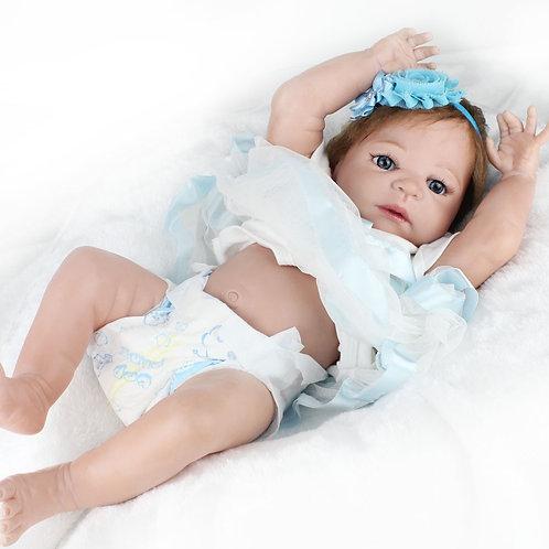 Boneca Bebê Reborn Real Perfeita TODA EM VINIL SILICONADO