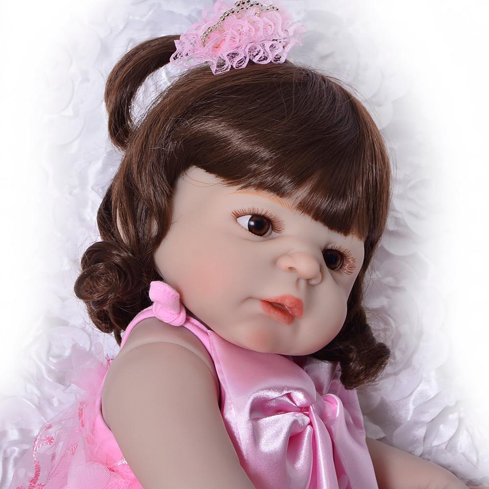 bebe reborn de silicone barato, Bonecas de vinil siliconado linda