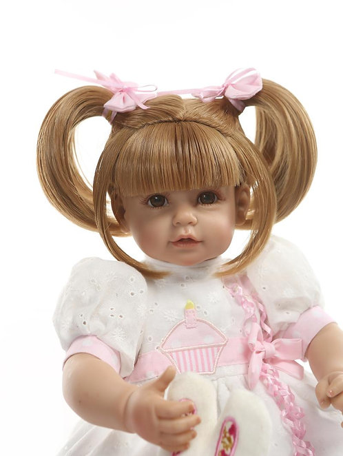 bebe reborn maria chiquinha loira