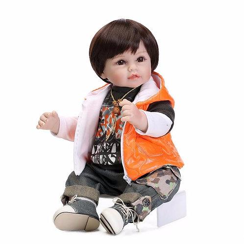 52 CM silicone bonecas reborn bebê com touca lindo