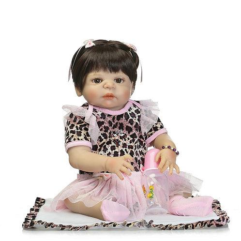 Boneca Real Reborn TODA EM SILICONE ONCINHA linda!