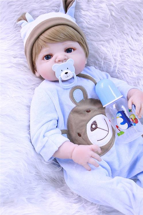 Boneca Bebê Reborn Real Perfeita TODA EM VINIL SILICONADO especial