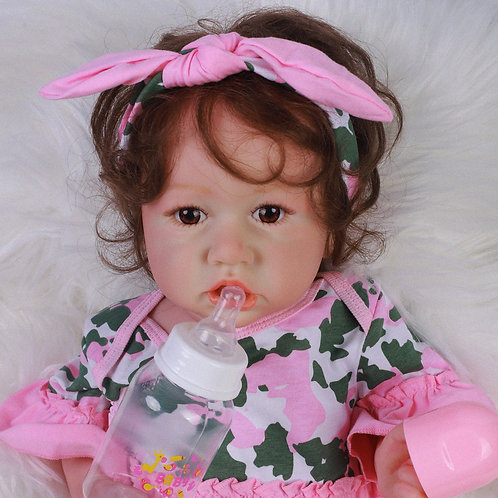 Bebe reborn Saskia toda em silicone linda