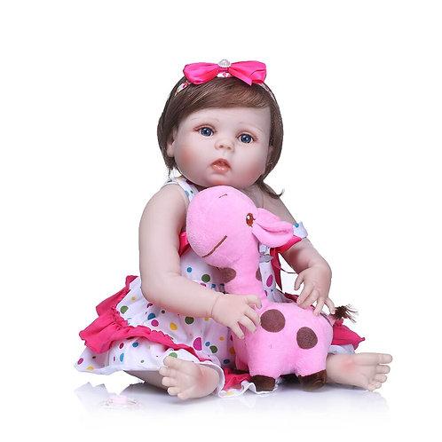 bebe reborn 55 cm Toda silicone Lacinho