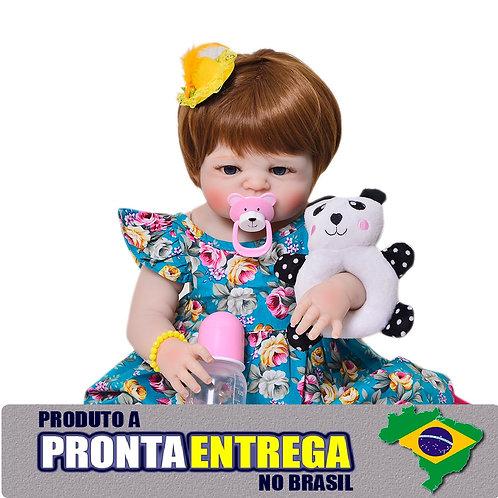 Boneca Reborn LINDA TODA EM VINIL SILICONADO bebe