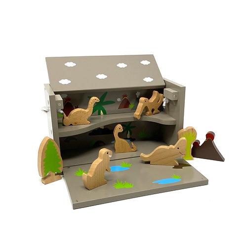 Childrens wooden Dinosaur play set