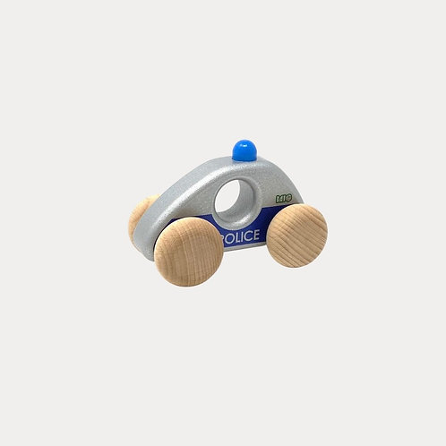Bajo Wooden Police Car for toddlers
