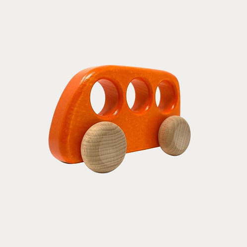 Bajo Wooden Orange Bus for Babies, Toddlers
