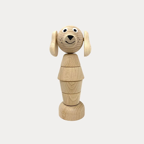 Wooden Stacking Tower Dog