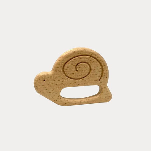 Bajo Snail Teether, natural teething toy