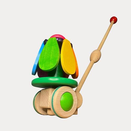 Bajo Rainbow Flower Push Along Toy