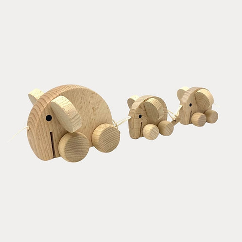 Wooden Toy Elephant Pull Along Toy
