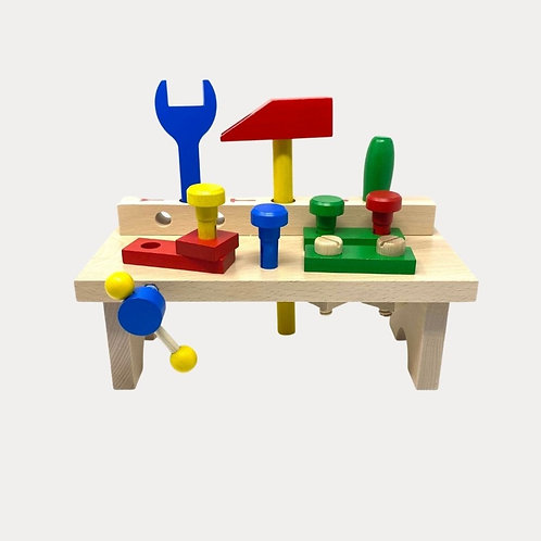 Wooden Montessori Toy Tool Bench