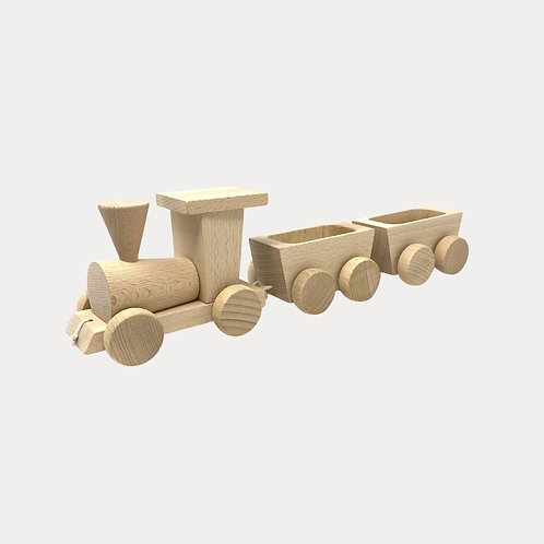 Traditional Wooden Train Set for Baby and Toddler