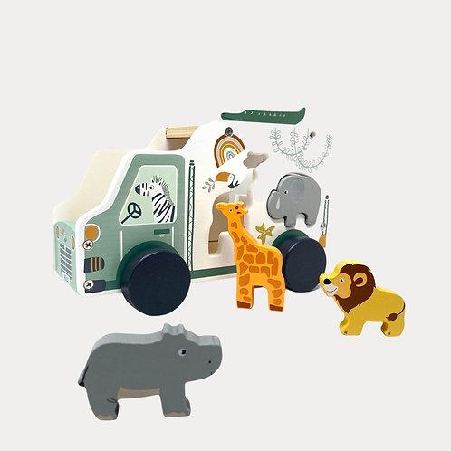 Legler Toy Car Shape-Fitting Game Safari