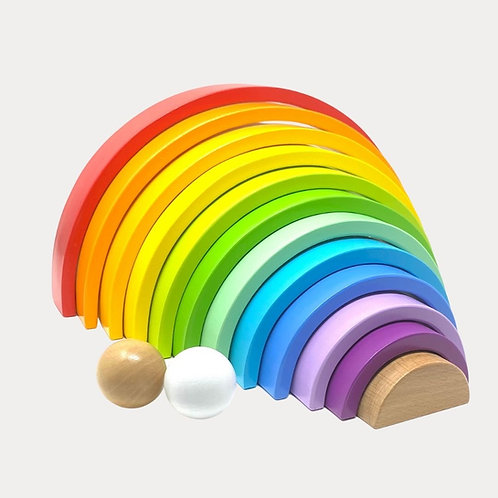 Montessori Rainbow Stacker Toy