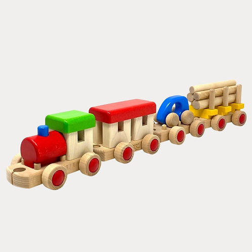 Wooden Tot Train Set