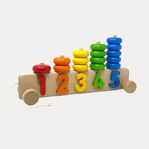 Bajo Stacker 1 - 5 pull along toy for 1 year old