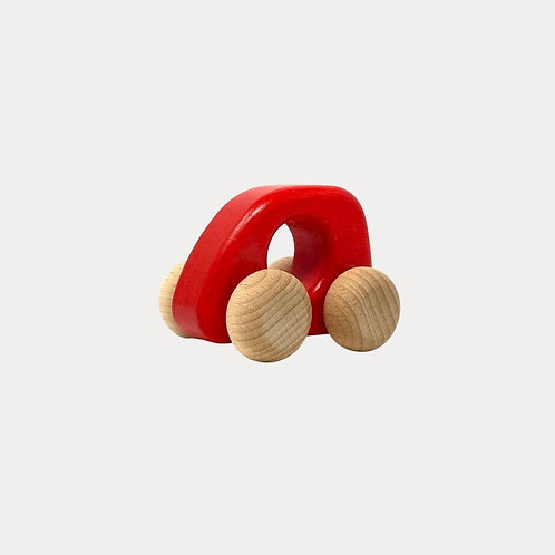 Bajo Wooden Toy Car Red for Baby and Toddler
