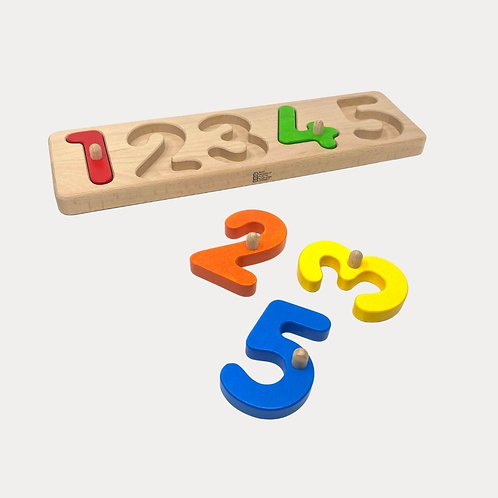 Bajo Wooden Peg Puzzle Numbers