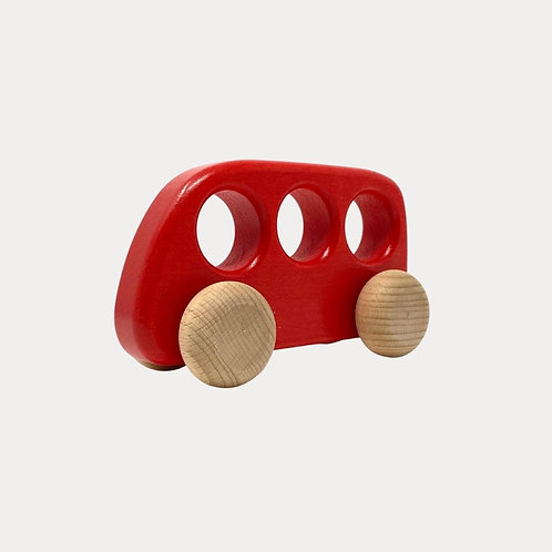 Bajo Red Bus Wooden