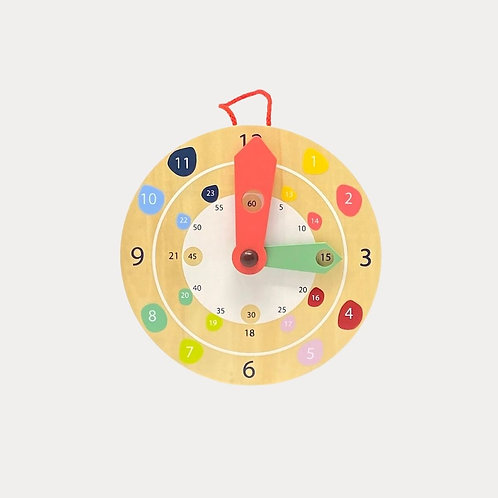 Childrens wooden clock for early years learning