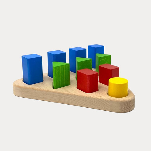 Bajo Wooden Sorting Board 10 for early years