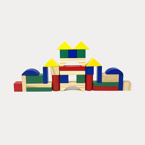 Wooden Building Blocks for Children