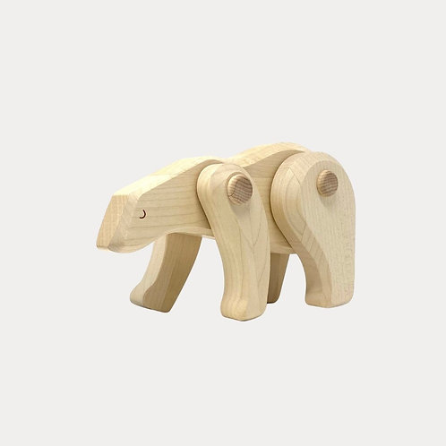 Bajo Wooden Polar Bear for babies room accessories, book ends