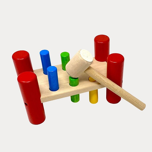 Bajo Hammering Board. Wooden Hammering  Board for Babies and Toddlers