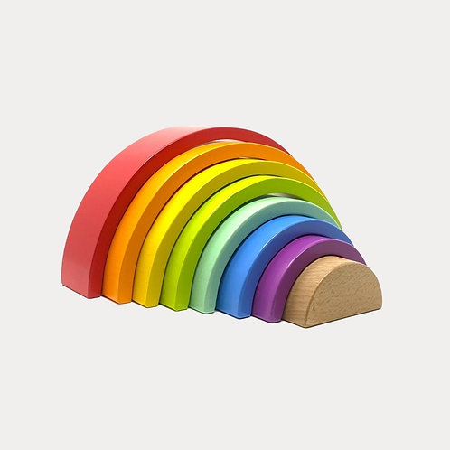Large Wooden Stacking Rainbow for Children