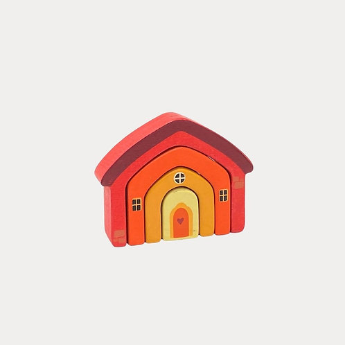 Wooden Toy Stacking House