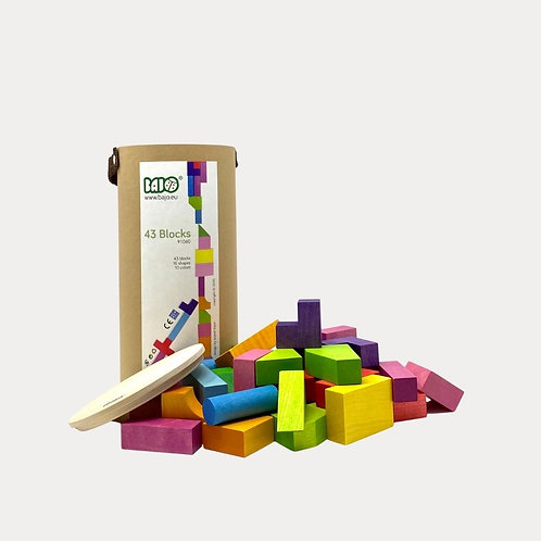 Bajo 43 Building Blocks. The perfect present for babies and toddlers