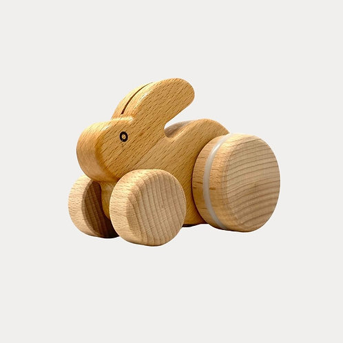Bajo Natural Wooden Rabbit for babies and toddlers