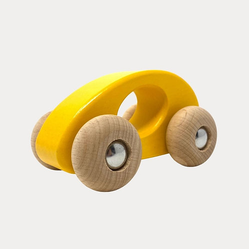 Bajo Wooden toy car yellow