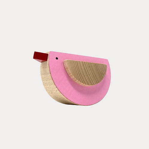 Wooden Toy Bird Pink New Baby Gift