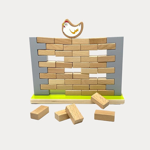 Wobbling Wall Game. Jenga style game