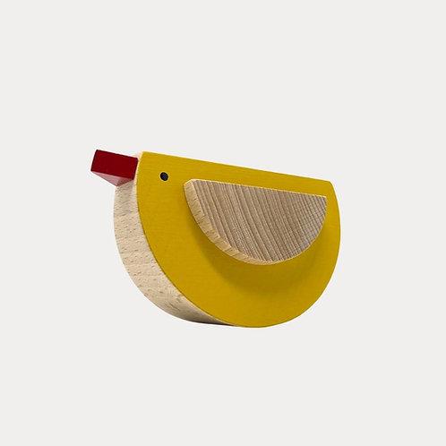 Popi Wooden Bird Yellow, Nursery Accessories